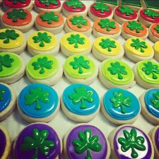 mini saint patricks day shamrock bite cookies