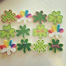 Saint Patricks day Shamrock cookies