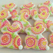Wiggle Flower Bunny Cookies
