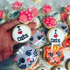 I HEART CATS mini cookies