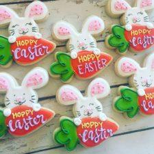Hoppy Easter bunny cookies