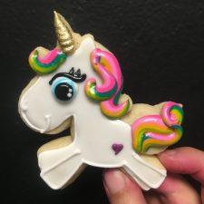 Prancing unicorn cookies