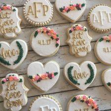 Let love grow bridal shower cookies