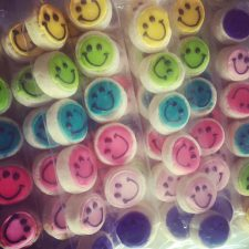 Funky Colored MIni smiley bites