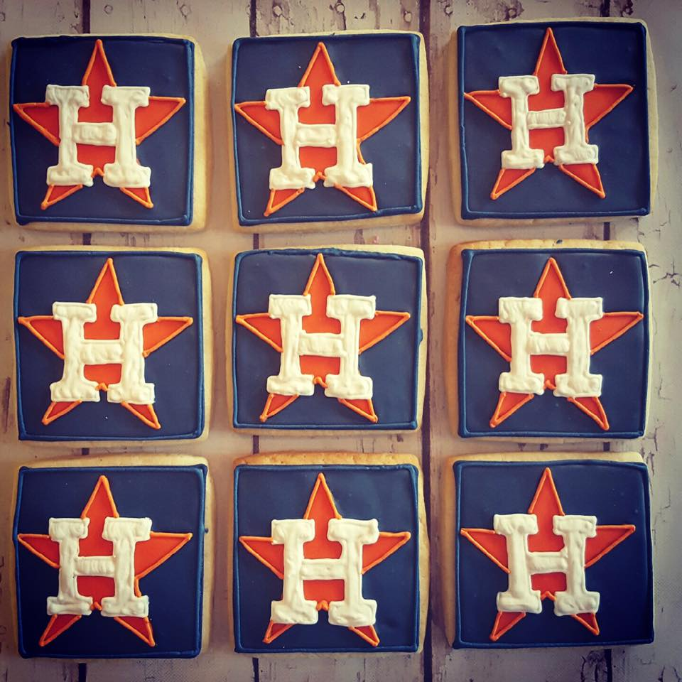 Houston Astros logo cookies
