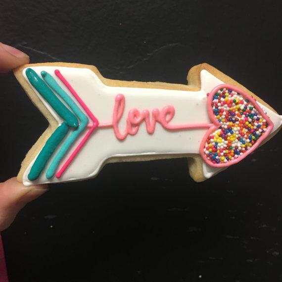 Cupids Sprinkle Arrow Cookies