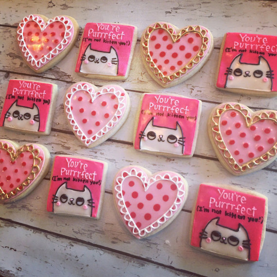 You're Purrrfect - cat lovers valentines set