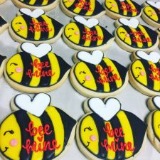 BEE mine valentines day cookies