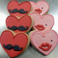 Mr and Mrs Valentines Cookies
