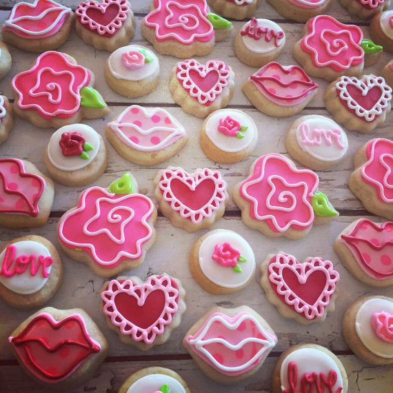 Mini valentines cookie assortment