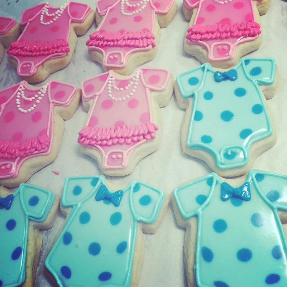 Gender Reveal Onesie cookies