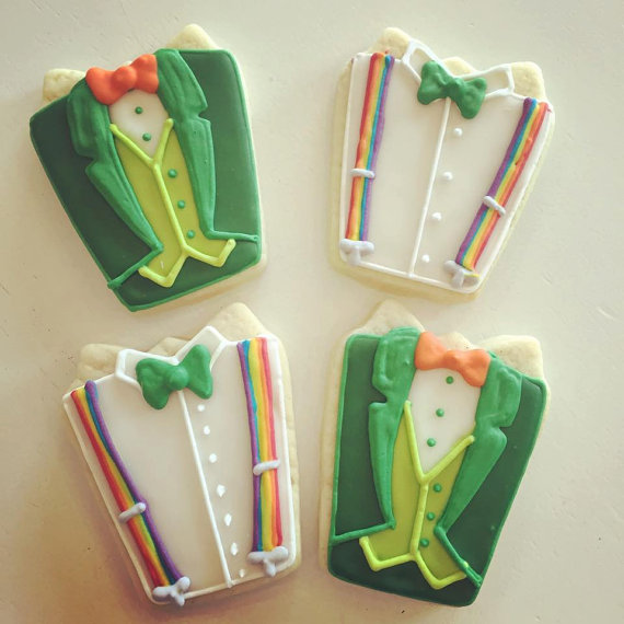 Leprechaun suit cookies