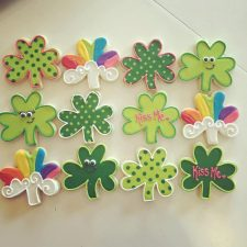 Saint Patricks day Shamrock cookies