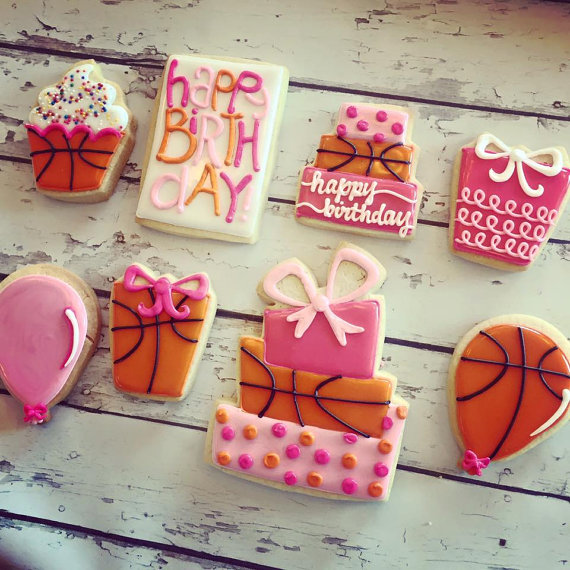 Basketball Birthday Cookies