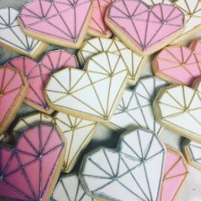 Heart gemstone cookies