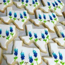 white texas bluebonnet cookies