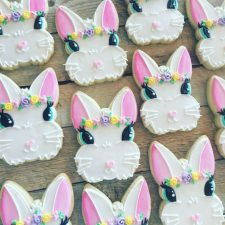 Chic bunny face cookies
