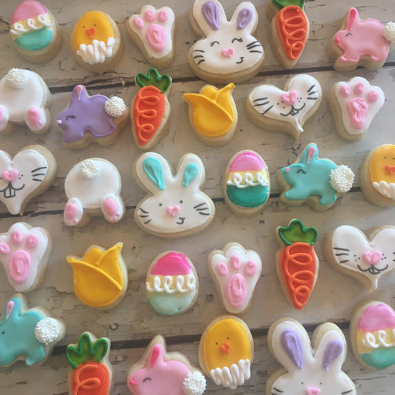 Mini easter cookies