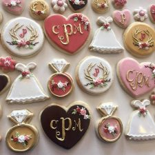 Rustic Dusty Rose bridal shower cookie set