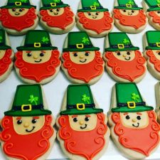 Leprechaun Face cookies