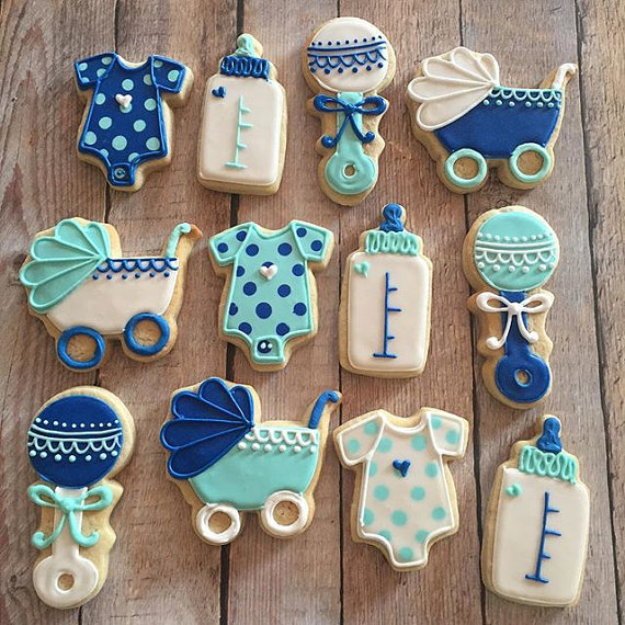 Boy Baby Shower Cookie Assortment Hayley Cakes And Cookieshayley