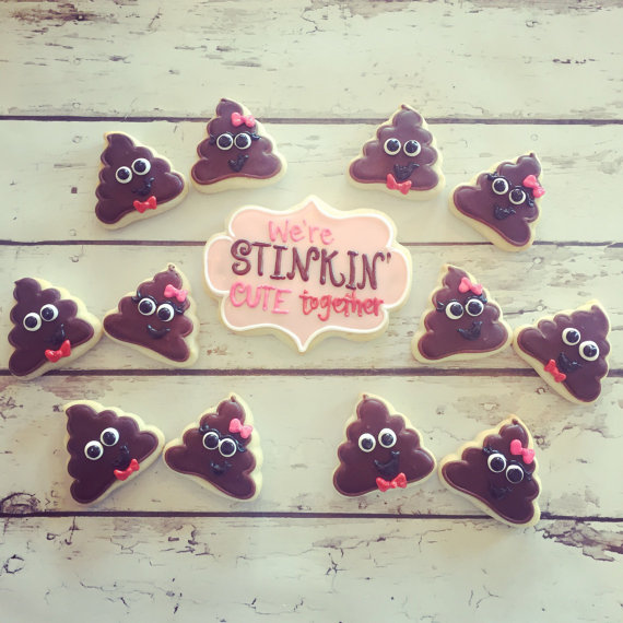 We're Stinkin' Cute Together Valentines Cookie Set