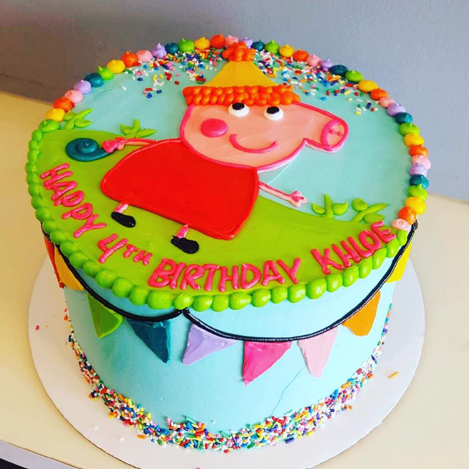 Excellent Peppa Pig Birthday Cake Hayley Cakes And Cookieshayley Cakes And Personalised Birthday Cards Arneslily Jamesorg
