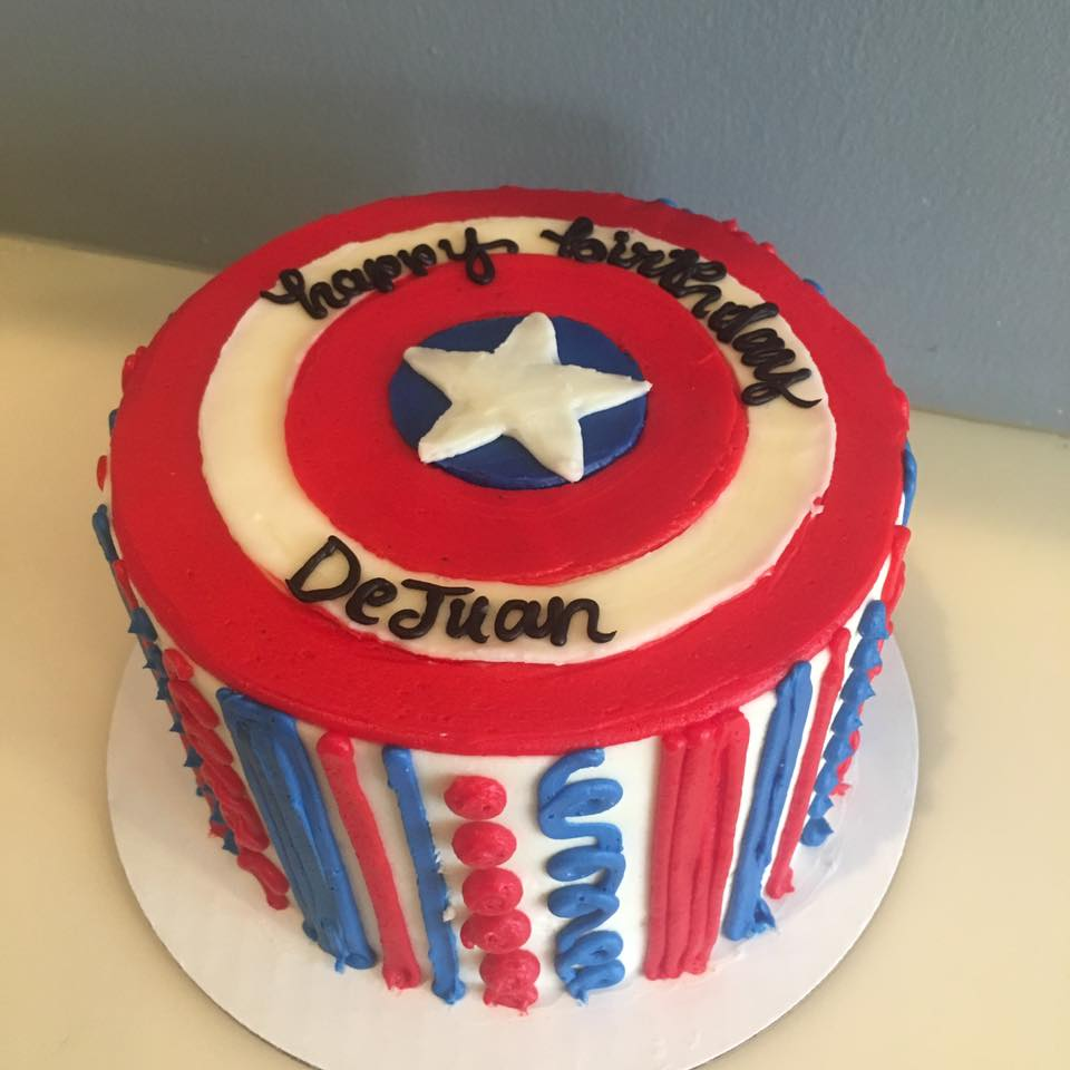 Captain America Shield Cake Hayley Cakes And Cookieshayley Cakes