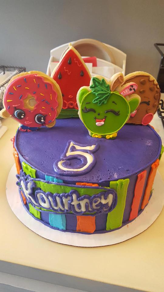 Shopkins Cake With Cookie Toppers Hayley Cakes And Cookieshayley Cakes And Cookies