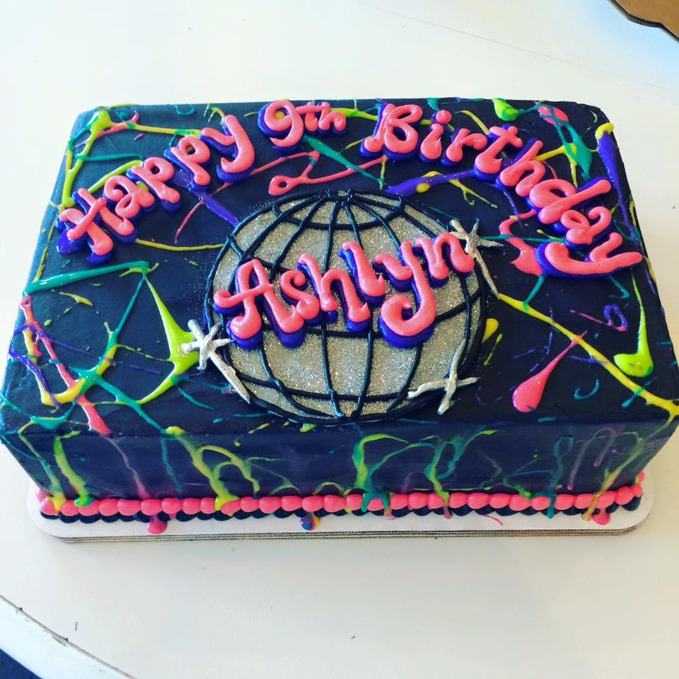 Disco Ball Splatter Paint Cake Hayley Cakes And Cookieshayley