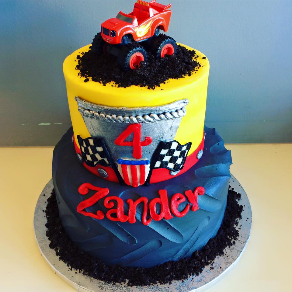 Pleasant Monster Truck Tire Cake Hayley Cakes And Cookieshayley Cakes And Personalised Birthday Cards Veneteletsinfo