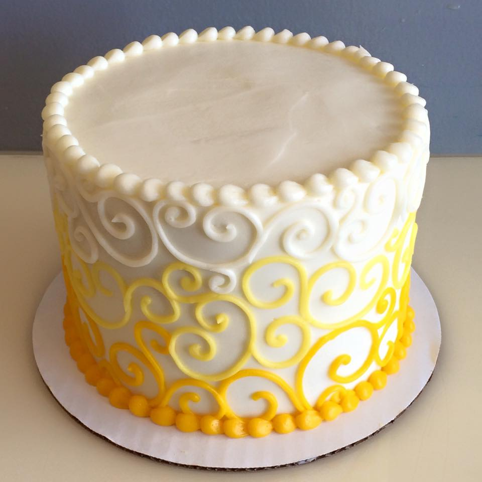 yellow ombre swirl cake - Hayley Cakes and CookiesHayley Cakes and ...