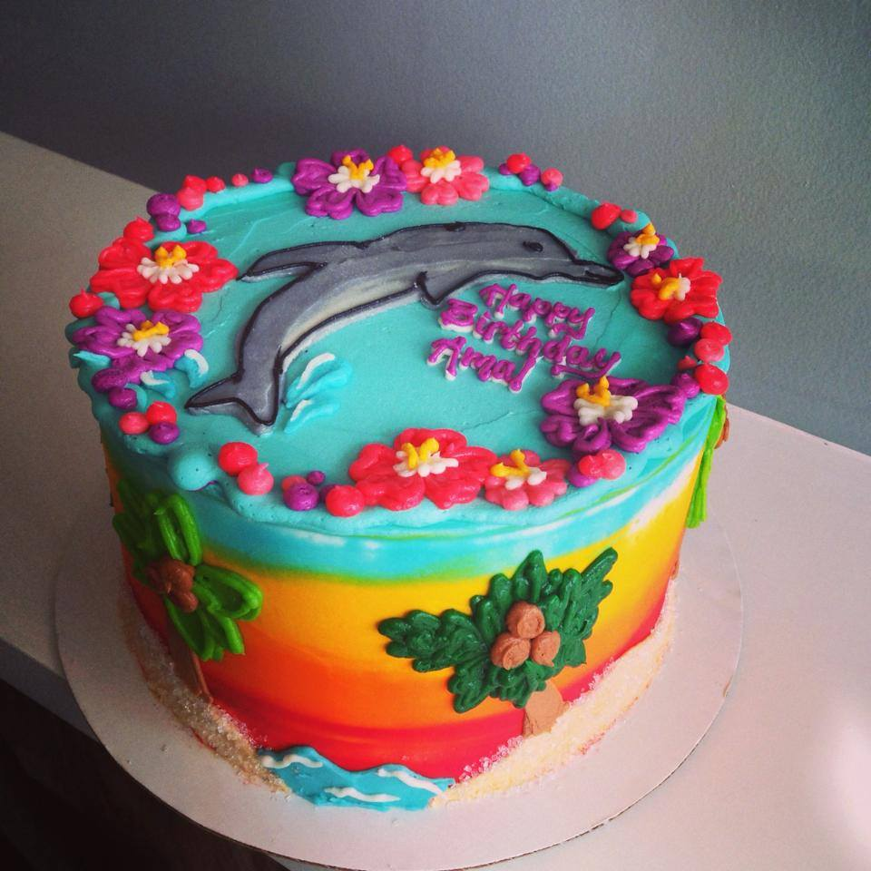 Dolphin Sunset Cake Hayley Cakes And Cookieshayley Cakes And Cookies