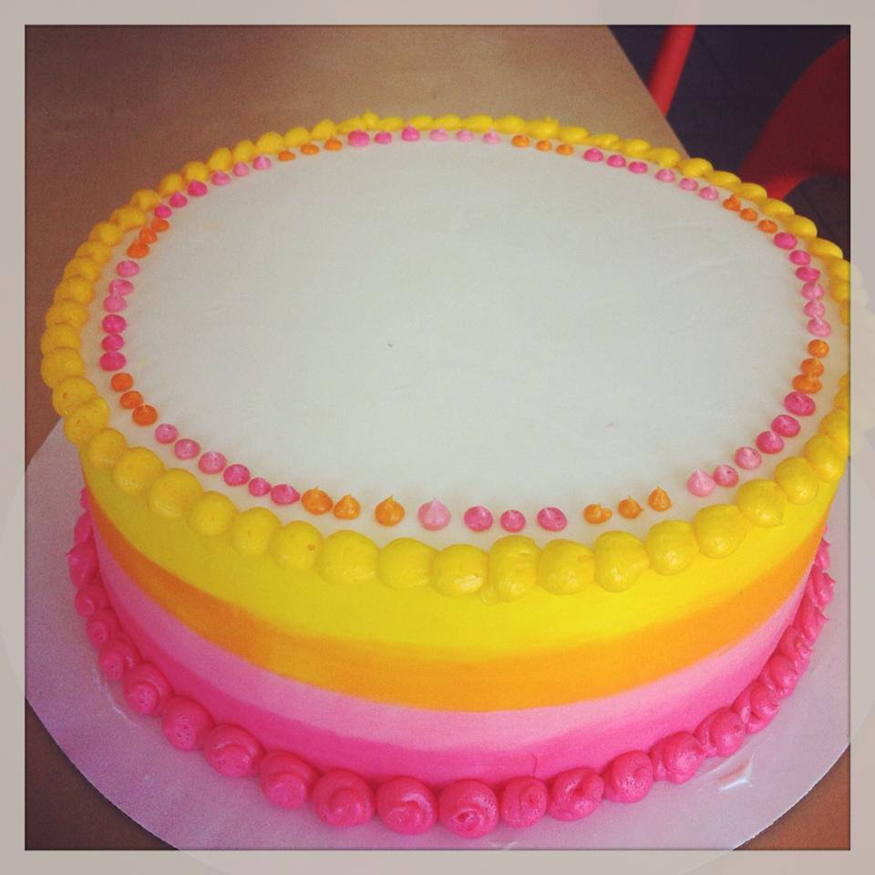 Peachy Pink Orange Yellow Smooth Ombre Fade Cake Hayley Cakes And Funny Birthday Cards Online Ioscodamsfinfo