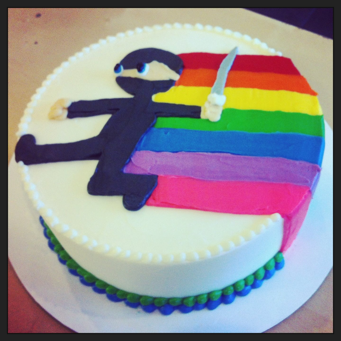 rainbow ninja cake - Hayley Cakes and CookiesHayley Cakes
