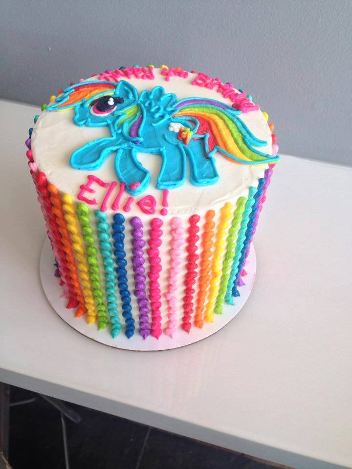 Astonishing Rainbow Dash Cake With Rainbow Beaded Stripes Hayley Cakes And Funny Birthday Cards Online Eattedamsfinfo
