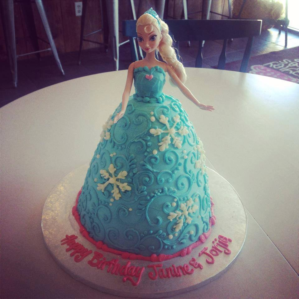 Elsa Doll Cake Hayley Cakes And Cookieshayley Cakes And
