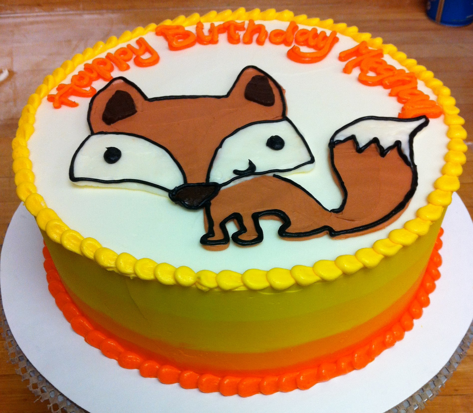 Ombre Fox Cake Hayley Cakes And Cookieshayley Cakes And Cookies