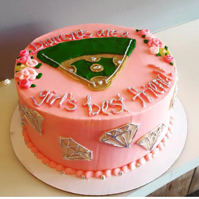 Cakes Birthday Baseball Diamonds Are A Girls Best Friend Check Availability