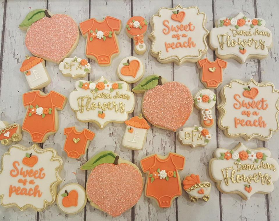 ... Peach Baby Shower Cookies U2013 LARGE. Check Availability