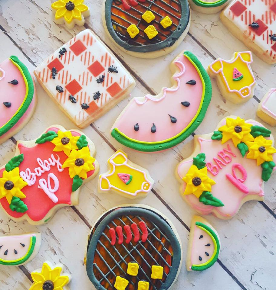 Bbq Baby Shower Cookies Large Hayley Cakes And
