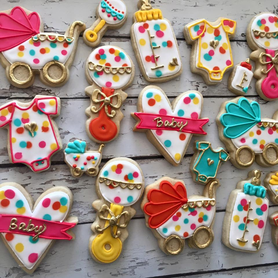Preppy Polka Dot Baby Shower Cookies Hayley Cakes And