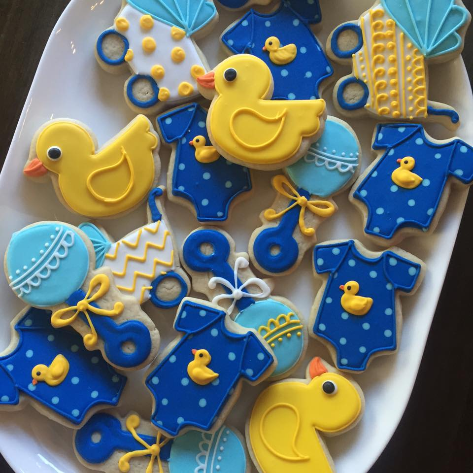 Rubber Ducky Large Baby Shower Cookies Hayley Cakes And