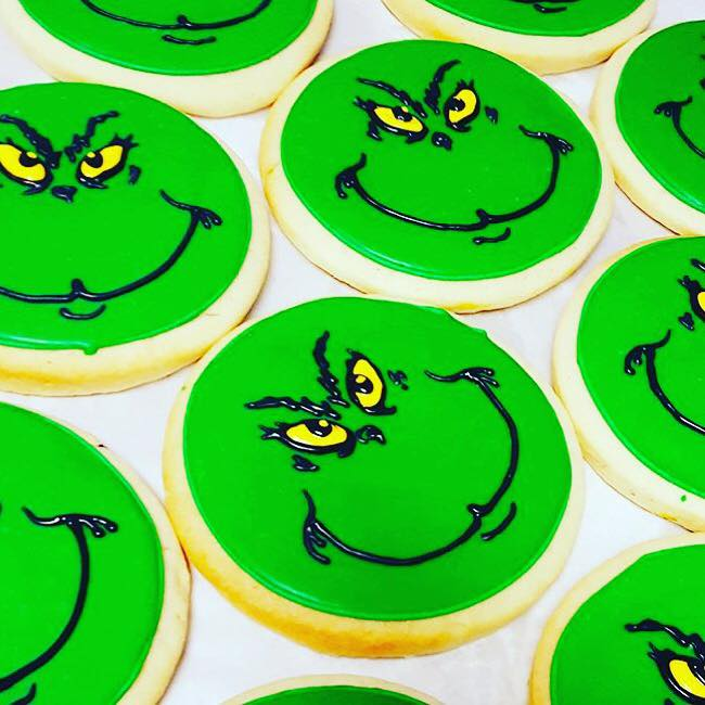 Grinch Face Cookie Hayley Cakes And Cookieshayley Cakes And Cookies