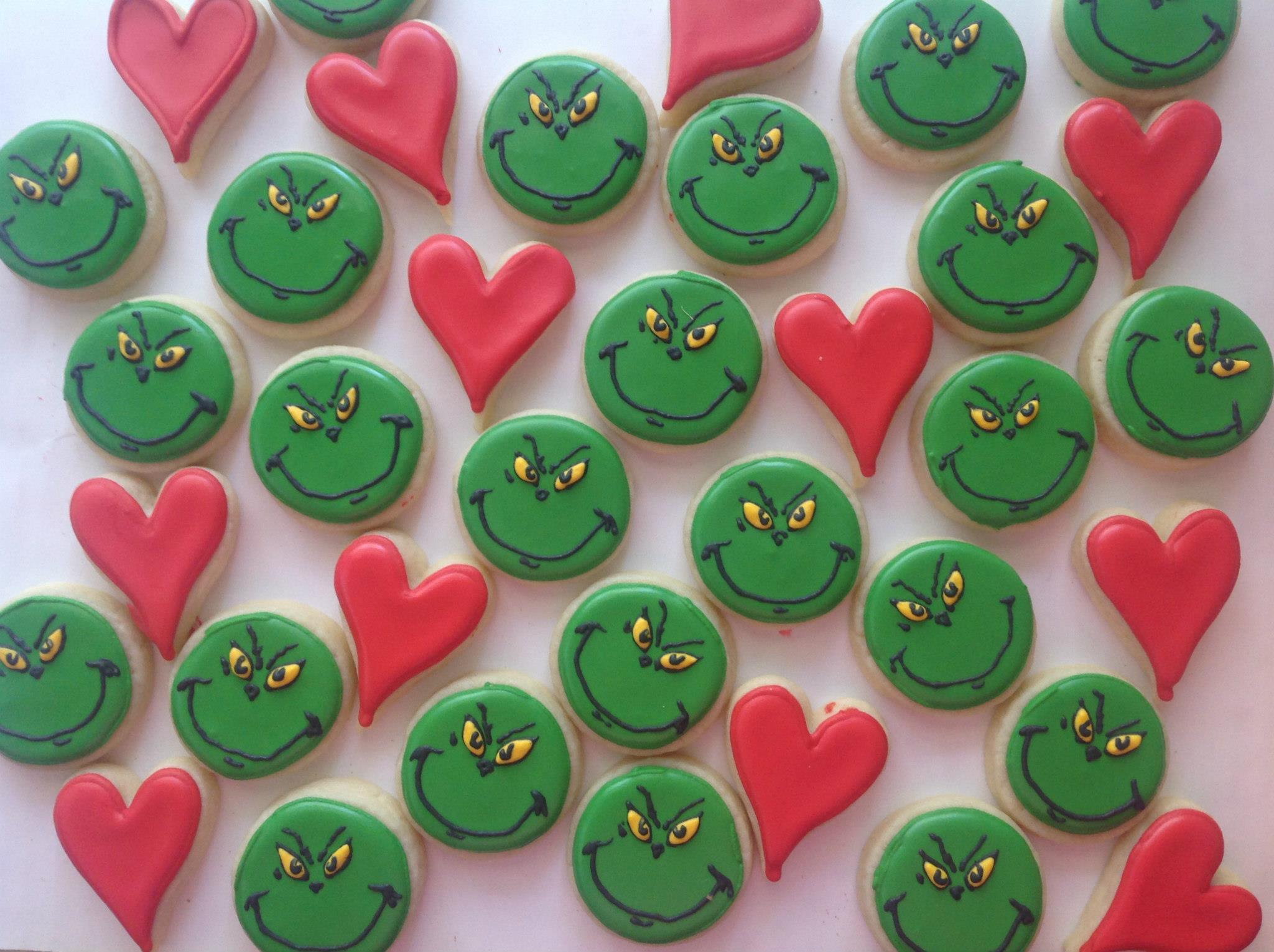 Mini Grinch Cookies