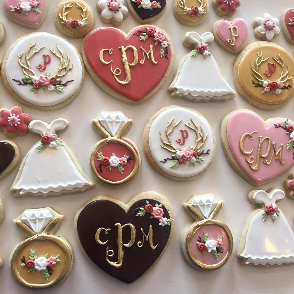 rustic bridal shower cookies check availability
