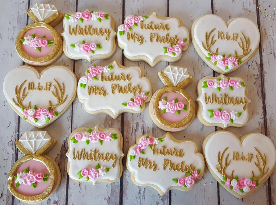 future mrs  phelps bridal cookies