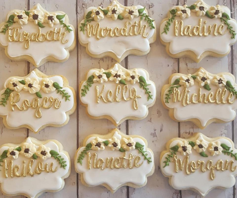 06d021e2d320 Name plaques for wedding party - Hayley Cakes and CookiesHayley ...