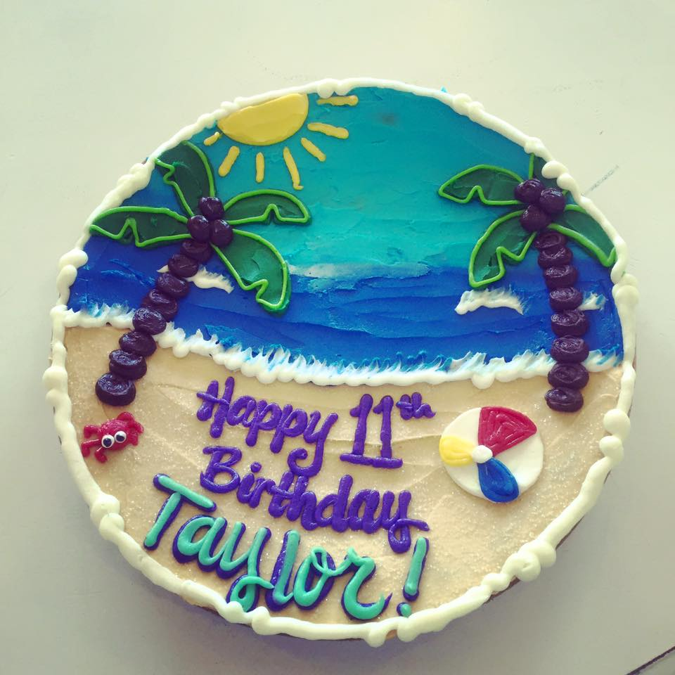Beach Scene Cookie Cake Hayley Cakes And Cookieshayley