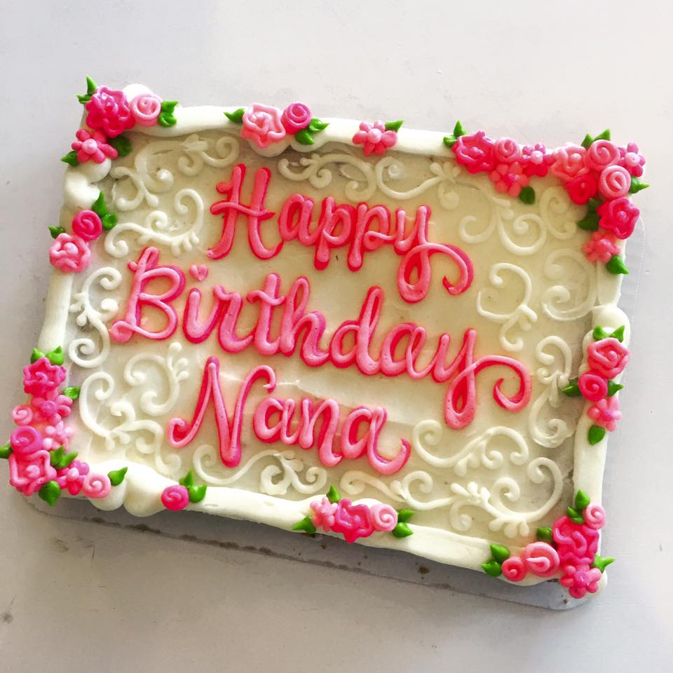 Wondrous Happy Birthday Nana Cookie Cake Hayley Cakes And Cookieshayley Personalised Birthday Cards Veneteletsinfo